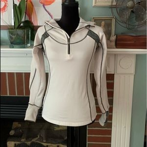 Lined hoodie white active wear size small